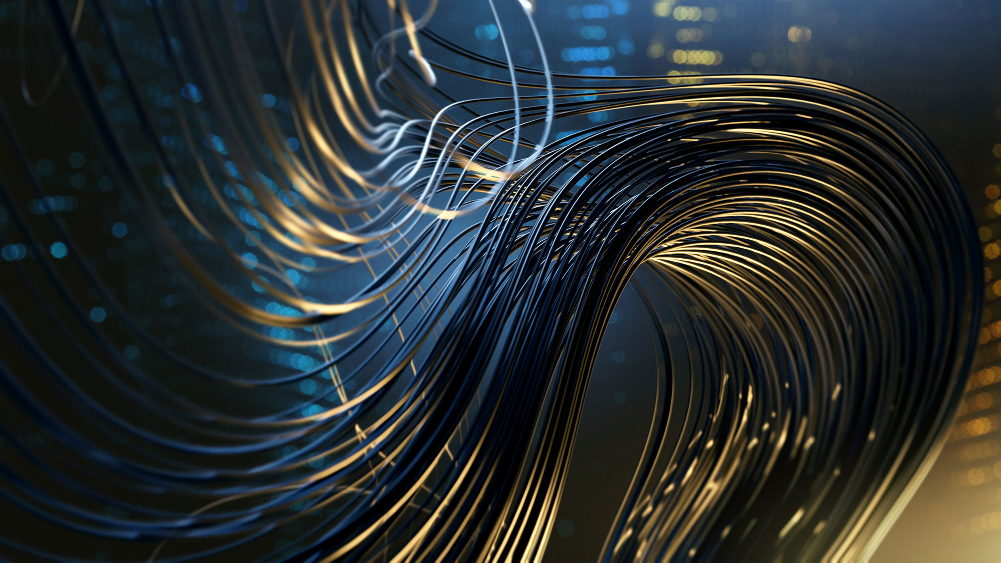 flowing wire photo
