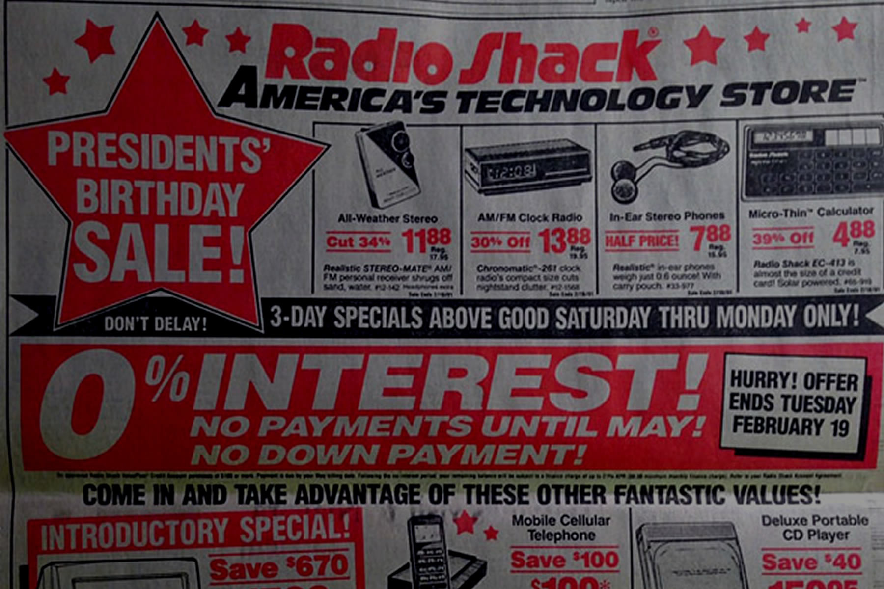 Radio Shack Advertisement